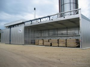 Exhaust air drying kiln
